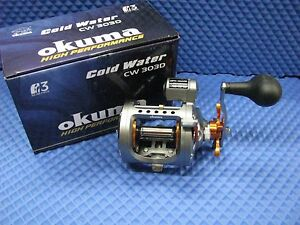 Okuma-Cold-Water-Trolling-Reel-with-Line-Counter-CW-303D-Right-Hand-Retrieve