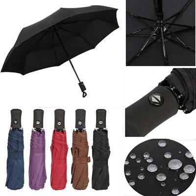 Retro Police Officer Flag Automatic Folding Umbrella Sunshade Tri-fold Rain Umbrella