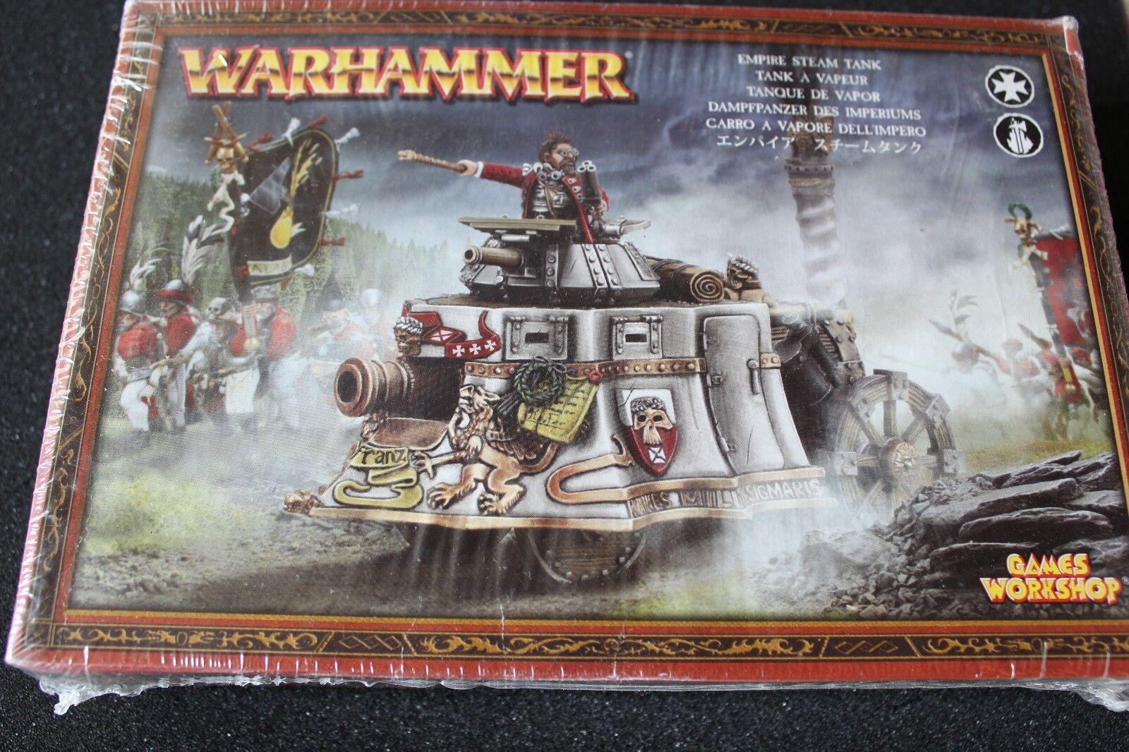 Games Workshop Warhammer L'empire steam tank  métal neuf scellé WH40K Fantasy B2  marque célèbre