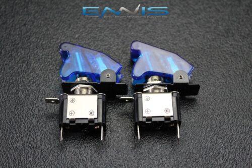 2 PCS TOGGLE SWITCH ON OFF BLUE MINI LED 12V 20 AMP RACE NITROUS EPS-3015BL