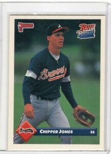 1992 DONRUSS BASEBALL ROOKIE  CARD # 721 - HOF CHIPPER JONES - ATLANTA BRAVES
