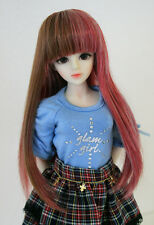 "1/6 bjd or 1/4 bjd 6-7"" doll wig multiple color long hair dollfie"