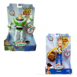 Mattel-Toy-Story-4-True-Talkers-Figures-Woody-9-034-or-Buzz-Lightyear-7-034