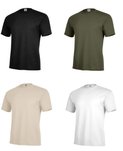 Solid Color T-Shirt Black OD Green Desert Army Navy USMC Plain Blank USAF USMC