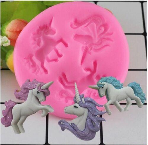 Unicorn Silicone Mold Baby Birthday Fondant Cake Decorating Tools Unicorni Mould
