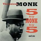 5 by Monk by 5 Remastered 2 Disc Set Thelonious Monk 2013 Vinyl