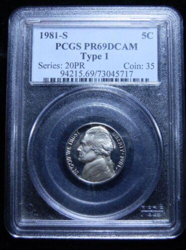 1981-S Jefferson Nickel PR69DCAM Type 1-22411