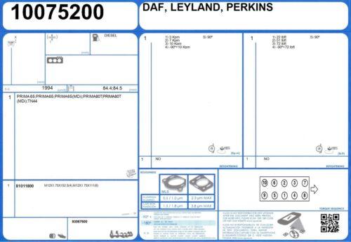 Cylinder Head Bolt Set Leyland Sherpa 240 2.0 64 Prima 65 11//1986-9//1994