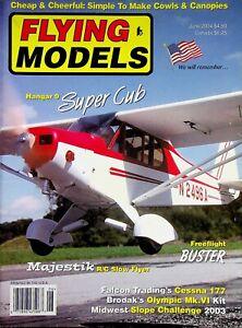 Vintage Flying Models Magazine June 2004 Hangar 9 Super Cub m320