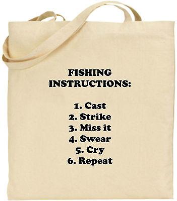 Fishing Anleitungen Groß Baumwolltasche Einkaufstasche Lustig Fisch Weihnachten