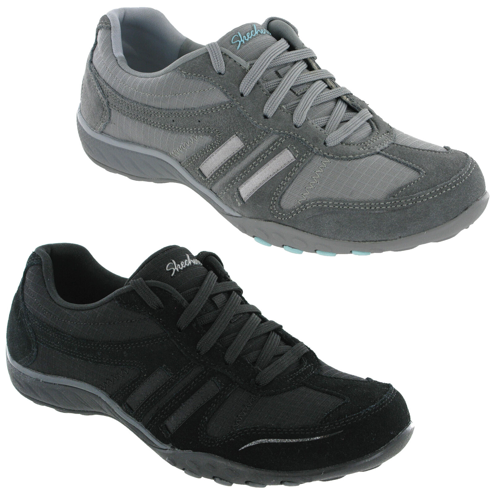 Skechers Breathe Easy Up Jackpot Schuhes Classic Memory Foam Lace Up Easy Damenschuhe Trainers e5245d