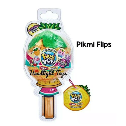 1 Pikmi Pops Flips Surprise FRUIT FIESTA Series Plush Doll Reversible Clip On