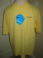 Mens Yellow Columbia Polo Shirt Size Xl /tg $45.00