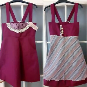 Leanne-Marshall-Designer-Vestido-Mini-reversible-Vintage-XS-NEW-with-Tags