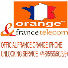 ORANGE FRANCE UNLOCKING SERVICE IPHONE 4 4S 5 5C 5S 6 6+ (CLEAN IMEI) SAME DAY
