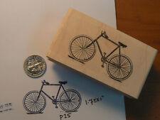 Men's Bicycle Vintage-Rubber Stamp WM 1x1.7' P25