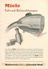 Miele Fahrrad Beleuchtung Lampe original Din A 4 Werbung Reklame Flyer Blatt