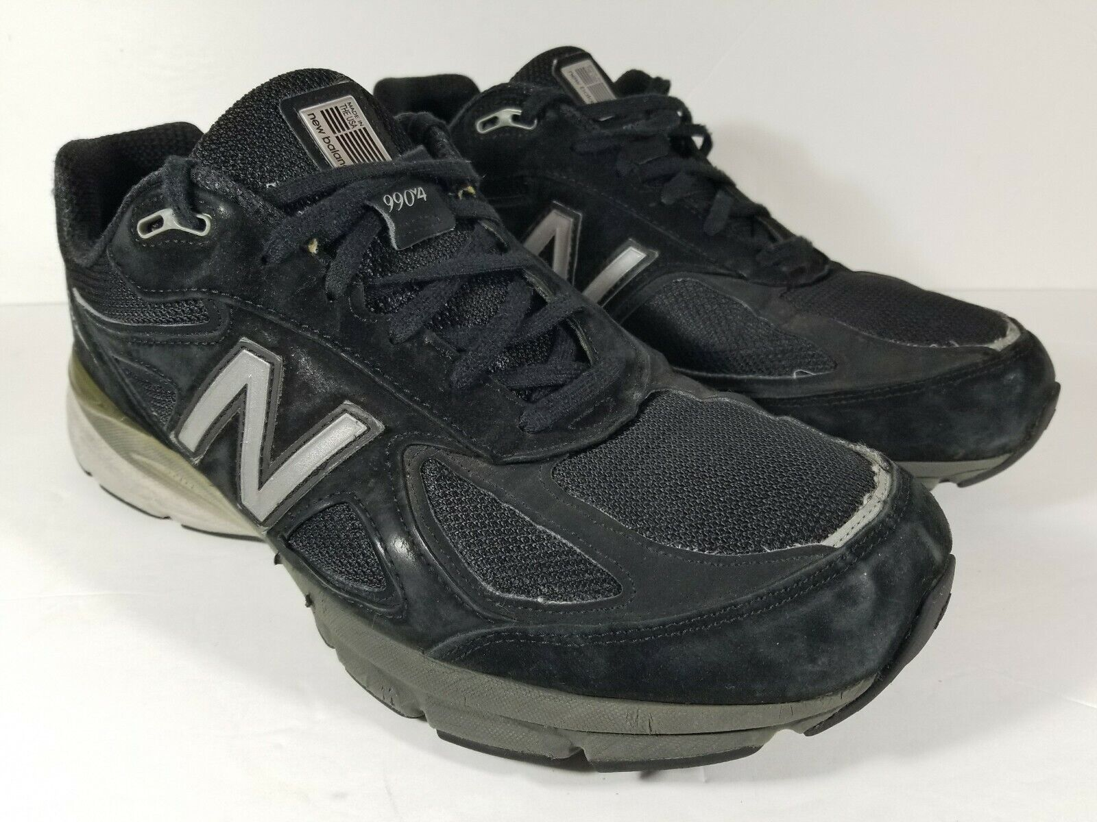 New Balance 990v4 Made in USA Men's Running shoes Black Silver M990bk4 Size 13 4E