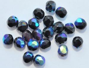 Y10-07 45 Kaden de vidrio esmerilado perlas 4 mm irisierend y10-07