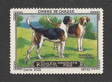 1931 France Cailler Kohler Dog Art Trade Card English / American Foxhound