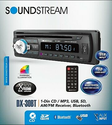 NEW SOUNDSTREAM VCD-21B CAR STEREO CD BLUETOOTH AUX//USB SD INPUT REMOTE CONTROL