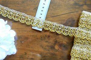 METALLIC-Beaded-Braid-Polyester-Edge-GOLD-25mm-wide-2-Metre-Length-ft19-Sunrise