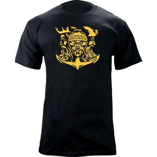 Original Navy Honorable Shellback USN Veteran T-Shirt