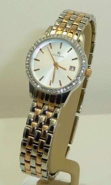 Accurist Ladies 8059 Two Tone Stainless Steel Bracelet Date Watch RRP £99.99