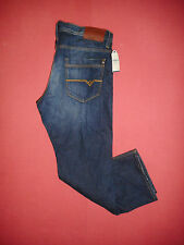 Designer NEW VOI Jeans - W40 L30 - Button-Fly - Mens Blue Denim Jeans BNWT- K864