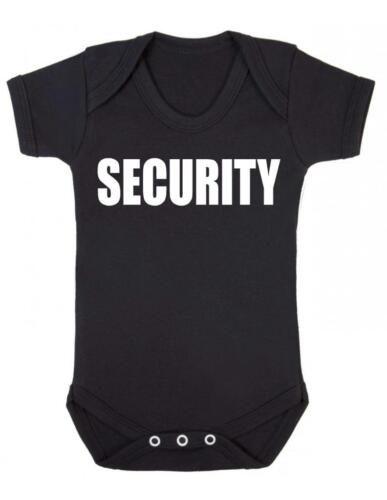 "Vest  /""SECURITY/"" Funny Security Baby Grow Baby Grow Baby Vest"