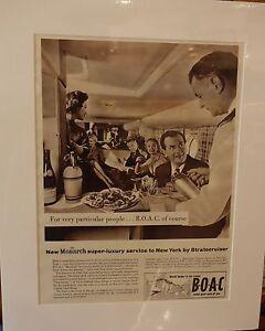 Original-Vintage-Advert-mounted-ready-to-frame-B-O-A-C-1957