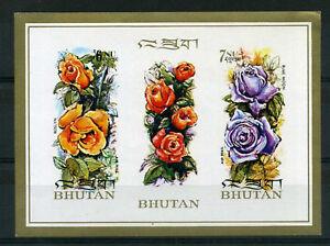 Fiable Bhoutan - Bloc 51, Fleurs, Non Dentelé, Neuf**