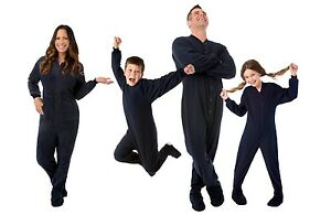 10e5c0b096 Image is loading Big-Feet-Pjs-Navy-Blue-Fleece-Footed-Pajamas-