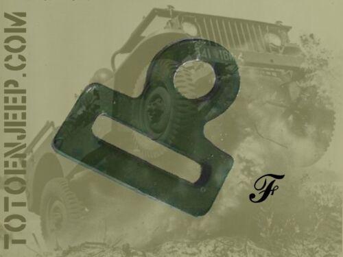 PLAQUE PASSANT SANGLE JEEP FORD GPW