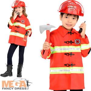 Firefighter Kit Kids Fancy Dress Fire Brigade Uniform Boys Girls