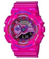 Casio G-shock Unisex Pink Crazy Colours Analogue/digital Watch Ga-110mc-4adr