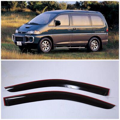 ME42382 Window Visors Vent Wide Deflectors For Mitsubishi Pajero I 1982-1991