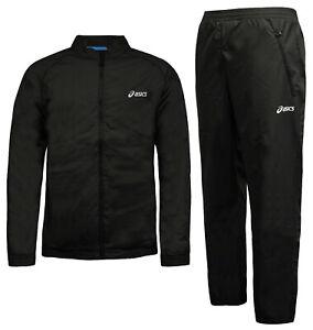 Details about Asics Mens Lightweight Full Tracksuit Set Jogger Jacket Black 421906 0904 A96A