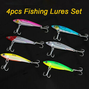 4pcs-VIB-Luya-Fishing-Lures-Set-5g-12g-17g-20g-Pike-Trout-Spoons-Spinners-GR