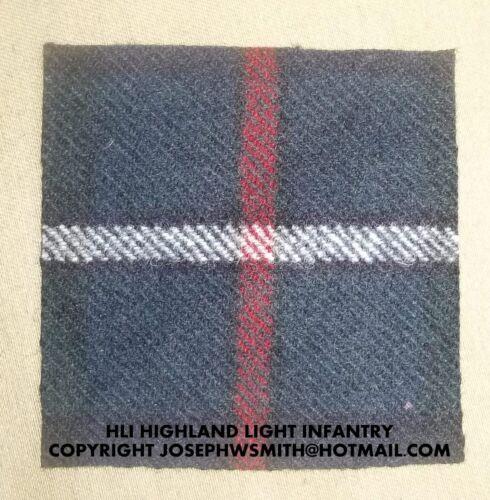 WW2 British Army HLI Highland Light Infantry tartan for medal mounting frame
