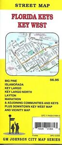 Florida Keys Maps.Map Of The Florida Keys Key West Florida By Gmj Maps Ebay