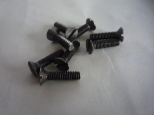 Screws Steel Slot Head M//c 5 Machine 10   M4 M5 Countersunk CSK Packs of 1