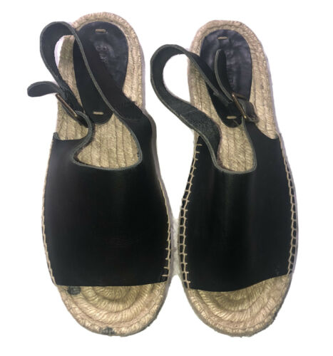 Soludos Tilda Leather Sandal, Women's Size 8.5, Bl
