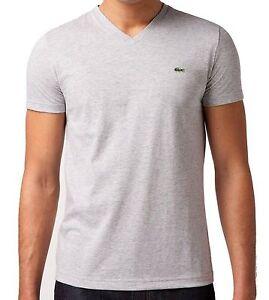 New Nwt Lacoste Men/'s Pima Cotton Sport Athletic Jersey V-Neck Shirt T-Shirt Tee