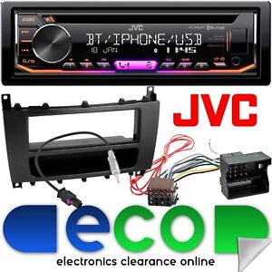 Details about Mercedes C Class W203 04-07 JVC Bluetooth CD MP3 USB Car  Stereo Full Fitting Kit