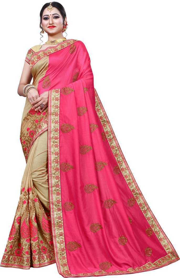 Printed Bollywood Cotton Jute Blend, Lace Wedding Bridal Saree Unstiched Blouse