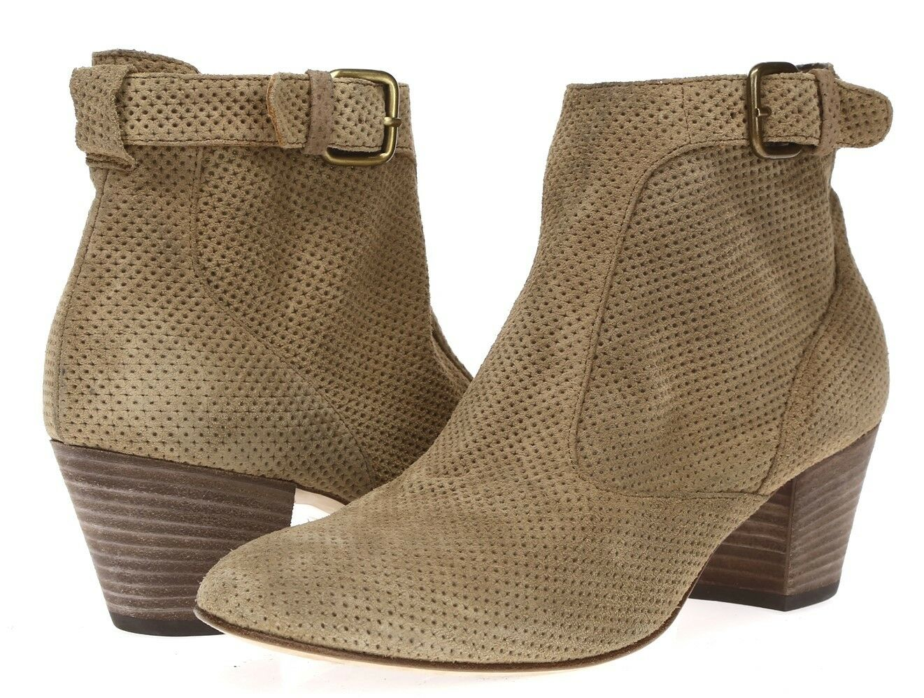 Aquatalia mujer Dark Beige Beige Beige Gamuza Tobillo botas talla 8.5  punto de venta
