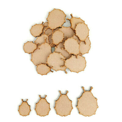 Wooden MDF Ladybirds Insects Decoration 3mm Thick Tags Blank