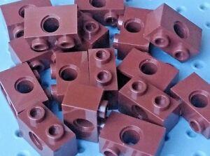 Lego Technic Bricks 1x2 with 1 hole [3700] - Brown Reddish x16