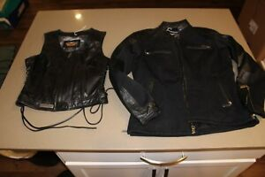 Authentic-Women-039-s-GENUINE-Harley-Davidson-Jacket-amp-Vest-CA03402-RN103819
